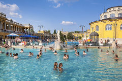 Szechenyi Thermal Baths and Pool Royalty Free Stock Images