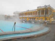 Szechenyi thermal bath in Budapest, Hungary royalty free stock photos