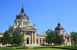 Szechenyi thermal spa in Budapest Stock Photography