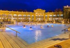 Szechnyi θερμικό bath spa στη Βουδαπέστη Ουγγαρία Στοκ Εικόνες