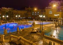 Szechnyi θερμικό bath spa στη Βουδαπέστη Ουγγαρία Στοκ Φωτογραφία