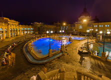Szechnyi thermal bath spa in Budapest Hungary. Travel background Stock Image
