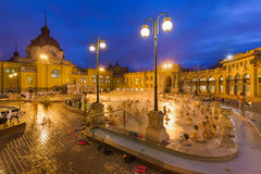 Szechnyi thermal bath spa in Budapest Hungary Royalty Free Stock Photos