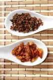 Szechuan胡椒和辣椒 免版税库存照片