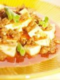 Szechuan dish ma-po tofu. Close up of hot and spicy szechuan tofu ma-po tofu Stock Photo