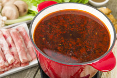 Szechuan Hot Pot Stock Photo