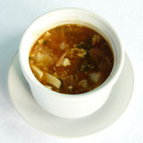 Szechuan hot and sour soup Stock Image