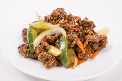 Szechuan Spicy Beef royalty free stock photos