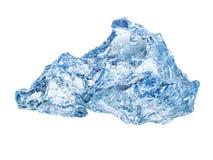 sześcianu lodu odosobniony biel Zdjęcie Stock