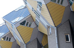 Sześcianów domy w Rotterdam, holandie Zdjęcia Stock