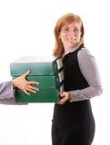 Szef daje daleko od pracie dla jej asystenta Fotografia Stock