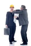 Szef dusi pracowników, śmiesznego biznesu pojęcie Zdjęcia Stock