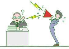Szef ignoruje podwładnych narzeka Obrazy Stock