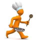 Szef kuchni Bieg Obrazy Stock