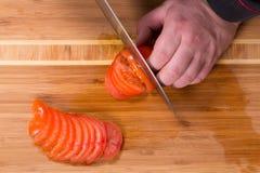 Szef kuchni ciie pomidory Obraz Royalty Free