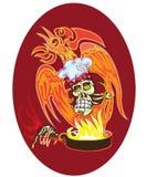 Szef kuchni - czaszka ilustracja wektor