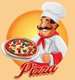szef kuchni dobrzy pizzy odory Ilustracji