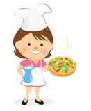 szef kuchni dobrzy pizzy odory ilustracja wektor