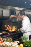 szef kuchni działanie zdjęcia stock