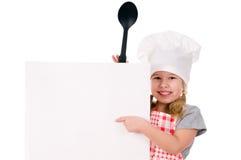 szef kuchni dziewczyny kapelusz s Obrazy Royalty Free