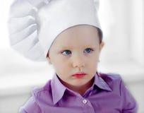 szef kuchni dziewczyny kapelusz trochę Fotografia Royalty Free
