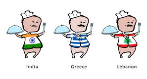 szef kuchni Greece ind Lebanon restauracja royalty ilustracja