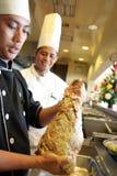 szef kuchni jagnięca noga Zdjęcia Royalty Free