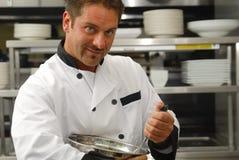 szef kuchni jedzenia target2407_0_ Zdjęcia Royalty Free