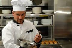 szef kuchni jedzenia target571_0_ Fotografia Stock