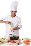 szef kuchni karmowego mężczyzna karmowi orientalni potomstwa Zdjęcia Royalty Free