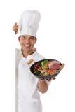 szef kuchni karmowego mężczyzna karmowi orientalni potomstwa Obraz Stock