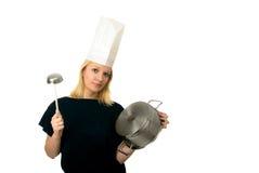 szef kuchni kobieta Obrazy Royalty Free