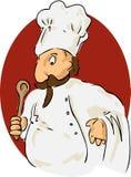 szef kuchni komiks. Obrazy Royalty Free
