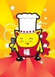 szef kuchni kotku Ilustracja Wektor