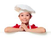 Szef kuchni kucbarska chłopiec Fotografia Royalty Free