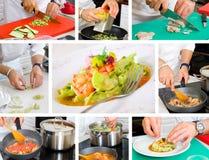 Szef kuchni kucharstwo obrazy royalty free