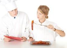 szef kuchni kucharza target1494_0_ Fotografia Royalty Free