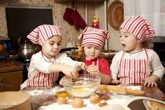 szef kuchni kuchenni trochę trzy Obrazy Royalty Free