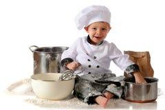 szef kuchni mały szczęśliwy Obraz Stock