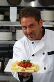 szef kuchni makaronu półkowy ja target2429_0_ Obraz Stock