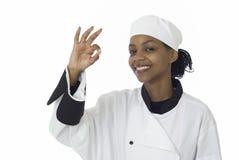 szef kuchni ok znak Fotografia Royalty Free