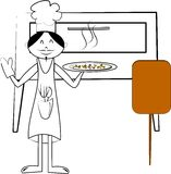 szef kuchni pizza Obrazy Stock