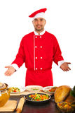 Szef kuchni pokazuje jego pracę Zdjęcie Royalty Free
