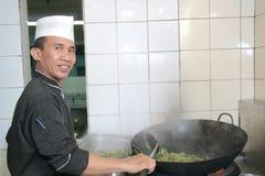 szef kuchni pracy Obrazy Royalty Free