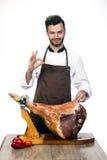 Szef kuchni promuje modną wieprzowinę Zdjęcie Royalty Free