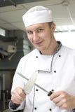 Szef kuchni przygotowywa posiłek Obraz Royalty Free