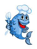 Szef kuchni ryba Obrazy Stock