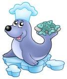 szef kuchni ryba foka Obrazy Stock