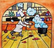szef kuchni rywalizacja ilustracja wektor