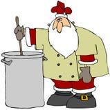szef kuchni Santa ilustracja wektor